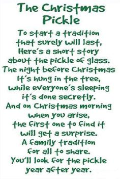 Christmas Pickle Poem… This is one of our yearly highlights but we do it on Ch… – Best Christmas Eve The Night Before Christmas, Christmas Morning, Winter Christmas, Christmas Spider, Christmas 2019, German Christmas, A Christmas Story, Santa Christmas, Christmas Pickle Ornament
