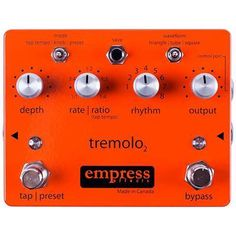Buy Empress Tap Tremolo 2 Effects Pedal from Sound Affects Premier with Tap Tempo& analog sounds for maximum versatility and tone. Guitar Effects Pedals, Guitar Pedals, Triangle Wave, The Empress, You Sound, Pedalboard, Your Music, Big Music, Guitars