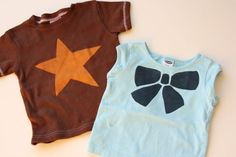 Freezer paper stencil tutorial for T-Shirts (cover stains or create graphic T's)