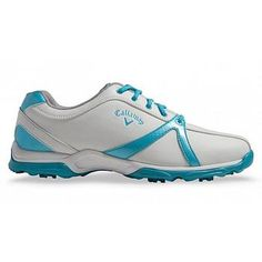 Callaway Cirrus Ladies Golf Shoes - White/Blue - Size: 4