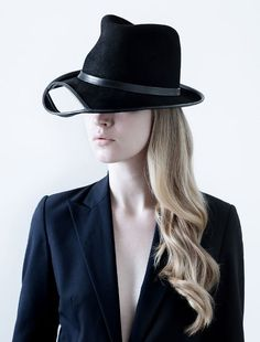 Benoit Foucher #fashiondesigner #hats #millinery #blackhat #womenhat