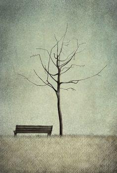 """Under the Cherry Tree - Winter"" by Maja Lindberg (© 2013)"