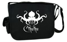 H.P. Lovecraft Cthulhu Creature Octopus Messenger Bag Cross Body Gothic Horror Clothing