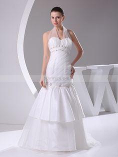 Rani - sirena v collo abito da sposa in tulle con applique