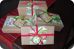 . Every year I try to come up with a different and unique idea for wrapping my Christmas gifts. Last year I was inspired by a Christmas sho...