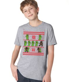 7b14de71e Gingerbread Zombie Ugly Christmas Sweater Youth Shirt | CrazyDog T-shirts  Big Brother Announcement,
