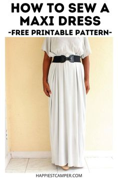 Need something elegant and simple for a special occasion? We show you How To Sew A Maxi Dress - Free Printable Pattern! This beautiful maxi dress is perfect for any formal event you are attending. You can also dress it down for casual wear. This included free sewing pattern makes it easy to size this for the perfect fit as well as quick to cut out your fabric. DIY Sewing. Sewing pattern. How To Sew A Maxi Dress - Free Printable Pattern Sewing Patterns Free, Free Sewing, Sewing Tutorials, Free Pattern, Beautiful Maxi Dresses, Casual Wear, Free Printables, Dress Skirt, Perfect Fit