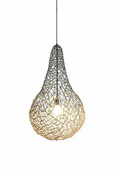 Kris Kros Hanging Lamp - By Kenneth Cobonpue Suspended Lighting, Elk Lighting, Floor Screen, Lamps For Sale, Chandelier Pendant Lights, Chandeliers, Bee Design, Lamp Design, Bulb