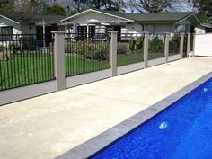 Vertical slats integrated into a ogue pool wall - the possibilities are endless with a ModularWall!