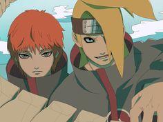 Deidara and Sasori Anime Naruto, Naruto Funny, Naruto And Sasuke, Itachi Uchiha, Naruto Shippuden, Boruto, Gaara, Sasori And Deidara, Deidara Akatsuki