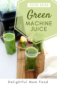 Green machine juice to help reset your body, detox, and pump you full of vital nutrients to instantly increase energy and gut health! A tasty green drink Nutrition Drinks, Health And Nutrition, Healthy Drinks, Nutrition Products, Vegan Nutrition, Healthy Food, Gut Health, Health Tips, Health Recipes