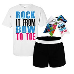 Rock it from Bow to Toe Campwear Package by Cheerleading Company Perfect for Allie! Cheerleading Company, Cheerleading Quotes, Cheer Quotes, Cheer Gifts, Cheerleading Outfits, Cheer Tryouts, Football Cheer, Cheer Coaches, Cheer Mom