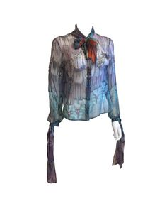 Alexander McQueen Sheer Blouse, Spring RTW 2008 — Shop for Designer Fashion at Curated Luxe LLC