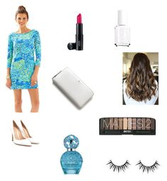 """fancy"" by laurenevazago ❤ liked on Polyvore featuring Kate Spade, Gianvito Rossi, Marc Jacobs, Laura Geller and Essie"