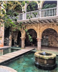 How to Spend 36 Hours in Cartagena, Colombia (With Pictures) Living Pool, Outdoor Living, Spa Hammam, Cartegena Colombia, Estilo Colonial, Piscina Interior, Colombia Travel, Dream Pools, Cool Pools