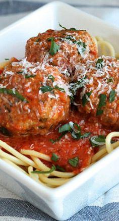 Classic Italian Meatballs - I served it with spaghetti squash instead of pasta