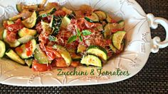 Zucchini & Tomatoes | An Affair from the Heart Just like Bone Fish Grill! #zucchini #tomatoes #recipe
