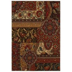 Home Decorators Collection Keswick Tomatillo Red 5 ft. 3 in. x 7 ft. 6 in. Area Rug-312756 - The Home Depot