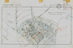 Film: Castle In The Sky ===== Layout Design: The Mechanics Of An Airship ===== Production Company: Studio Ghibli ===== Director: Hayao Miyazaki ===== Producer: Isao Takahata ===== Written by: Hayao Miyazaki ===== Distributed by: Toei Company
