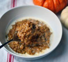 Hot Breakfast Recipe: Baked Pumpkin Steel Cut Oatmeal — Recipes from The Kitchn