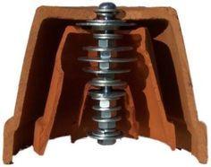 radiador_casero4 para montar el radiador con macetas Tres maceteros de cerámica, uno de 4″, otro de 2″ y el más pequeño de 1 1/2″. Arandelas. Dos grandes de 1 1/2″ x 1/4″, tres de 1 1/4″, otras tres de 1″ x 1/4″ y ocho de 3/4″ x 1/4″. Siete tuercas de 1/4″. Un tornillo tan largo como el macetero más grande, de 3″ x 1/4″.