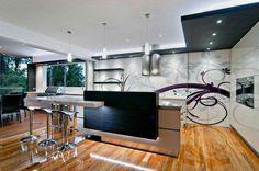 Contemporary kitchen Kim Duffin, mirror effects