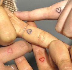 Tiny Tattoos For Girls, Cute Tiny Tattoos, Dainty Tattoos, Pretty Tattoos, Tattoos For Women, Cute Matching Tattoos, Small Bff Tattoos, Small Tattoos On Finger, Bff Tats
