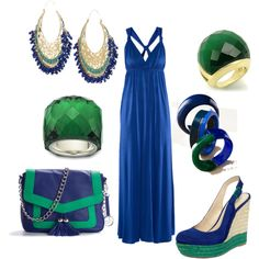 blue green, created by angela-hardy on Polyvore