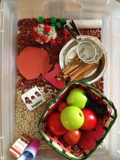Busy Hands Blessed Hearts: Apple Picking Fall Sensory Bin