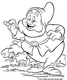 Printable 7 Seven Dwarfs Sneezy coloring pages