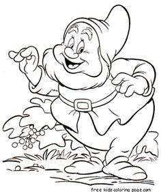 Printable 7 Seven Dwarfs Sneezy coloring pages