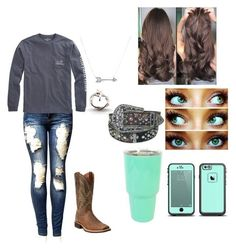 A fashion look from July 2017 featuring white distressed jeans, tattoo jewelry and Adina Reyter. Browse and shop related looks. Cute Cowgirl Outfits, Rodeo Outfits, Western Outfits, Fall Outfits, Cute Outfits, Fashion Outfits, Western Dresses, Country Style Outfits, Southern Outfits