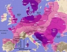 distribution of haplogroup I in Europe