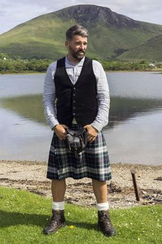 Groom style: It's so hard to find casual kilt looks for weddings. This is close to what I am thinking.