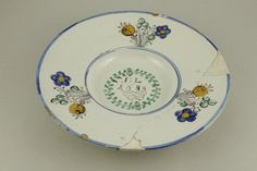 Delft, Porcelain, Pottery, China, Plates, Tableware, Hall Pottery, Licence Plates, Plate