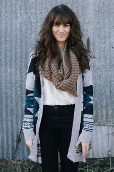cardigan + scarf combo by tonia
