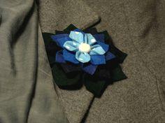 Brooch tutorial, flower, felt
