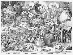 Peter Bruegel the Elder  Pride, an engraving from The Seven Deadly Sins, a favourite subject of mine...