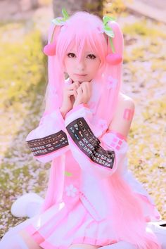 Pink Miku cosplay gotta love the Vocaloids. <3