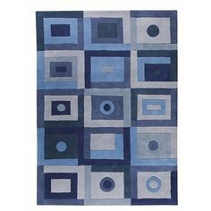 Hokku Designs Berlin Blue Area Rug Rug Size: Runner x