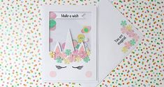 Hobbies And Crafts, Arts And Crafts, Scrapbook Cards, Scrapbooking, Unicorn Cards, Fantasy Mermaids, Flower Center, Shaker Cards, Kids Cards