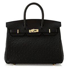 Ainifeel Women's Ostrich Embossed Leather Top Handle Handbags (Black) Ainifeel http://www.amazon.com/dp/B00WQQ0BVE/ref=cm_sw_r_pi_dp_f3Zzwb1K7RVCR