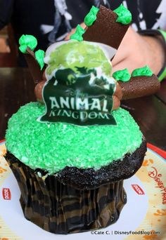New! Tree of Life Cupcake at Animal Kingdom's Kusafiri Bakery.