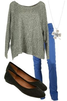 Loose shirts with tight bottoms (skirts, leggings, jeans) are a staple in my wardrobe.