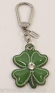 Coach shamrock key chain