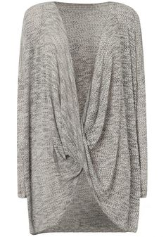 Grey Plain Irregular Cross Plunging Neckline Long Sleeve Fashion Boho Casual Pullover Sweater - Pullovers - Sweaters - Tops