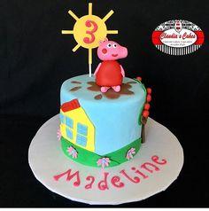 Pig Cakes, Peppa Pig, Birthday Cake, Desserts, Food, Tailgate Desserts, Deserts, Birthday Cakes, Essen