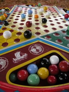 Chinese Checkers with a metal board and real marbles!
