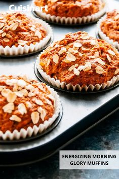 Packed with fiber and energy, our Morning Glory Muffins are the perfect snack on #NationalMuffinDay. Our CompleteChef Cooking Food Processor comes in handy before you put this batter in the oven, toasting walnuts, shredding carrots, and more to get the perfect base. #snacktime #breakfastidea #muffinrecipe #cuisinart #savorthegoodlife Morning Glory Muffins, Shredded Carrot, Cooking Food, Muffin Recipes, No Cook Meals, Food Processor Recipes, Carrots, Bakery, Oven