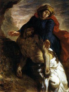 Pietà, par Eugène Delacroix